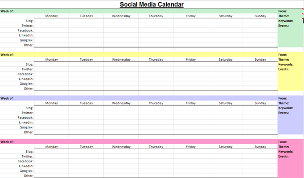 Social Media Marketing Content Calendar Sports Media Jobs In Nyc